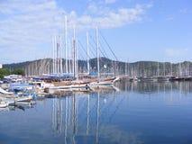 Fethiye Jachthafen, die Türkei Stockfotos