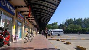 Fethiye la Turquie bus terminus en avril 2017 domestique Photographie stock