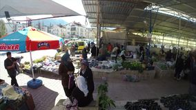 Fethiye Market stock footage