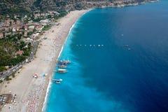Amazing aerial view of Blue Lagoon in Oludeniz Stock Photo