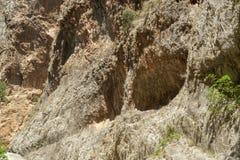 Fethiye ocultado del barranco de la ciudad, Mugla, Turquía imagenes de archivo