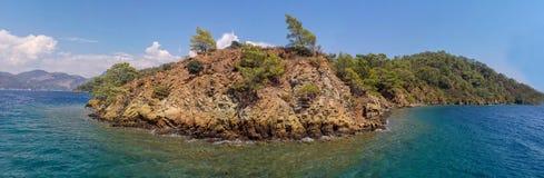 Fethiye red island, Mugla, Turkey stock image