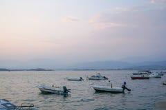 Fethiye sunset on the beach, Mugla, Turkey stock photos