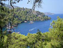 Secluded bay in Mediterranean sea, Turkey Stock Photography