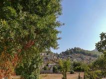 Fethiye Turkiet - den övergav grekiska byn av Kayakoy, Fethiye, Turkiet Gamla grekhus, koy near medelhavs- kust för kaya royaltyfri foto