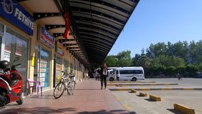 Fethiye Turquia ônibus terminal abril de 2017 doméstico filme