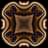 Fetish. Abstract fractal image resembling a Native American fetish Stock Images