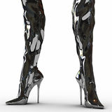 Fetish boots Royalty Free Stock Images