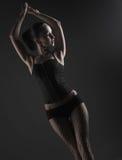 Fetish model dancing Royalty Free Stock Photo