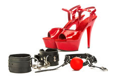 Fetish stuff and sex toys for BDSM Stock Image