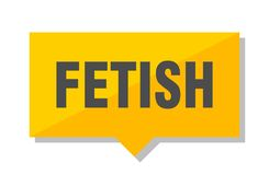 Fetish price tag. Fetish yellow square price tag Stock Image
