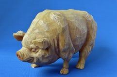 Fetma (bottenlägetangentbild av ett fett Piggy) Royaltyfria Bilder