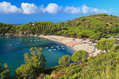 Fetovaia beach - Elba island Stock Photo
