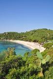 Fetovaia Strand, Elba-Insel, Italien stockbilder