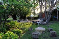 Feträdgård arkivbild