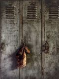 Fett-Affe-Arbeits-Schließfächer am Shop eines Mechanikers Lizenzfreie Stockfotografie