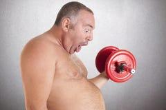 Fett, das Sport spielt Lizenzfreie Stockbilder