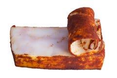 Fett des gesalzenen Schweinefleisch lizenzfreie stockfotos