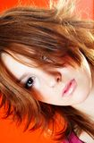 fett hår royaltyfri foto