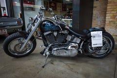 Fett-Junge Zerhacker-Harley-Davidson-Softail Lizenzfreies Stockbild