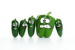 Fett och bantar peppar Arkivbilder