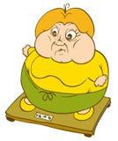 fett skalar kvinnan Royaltyfria Bilder