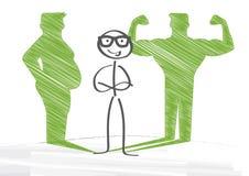 Fett som ska passas stock illustrationer