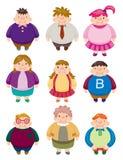 fett symbolsfolk för tecknad film Arkivbild
