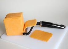 Fetta 2 del formaggio Fotografia Stock