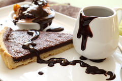 Fetta acida con cioccolato fotografia stock