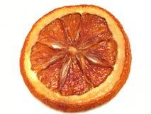 Fetta arancio fiammeggiata Fotografia Stock Libera da Diritti