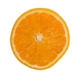 Fetta arancio isolata su fondo bianco Fotografie Stock
