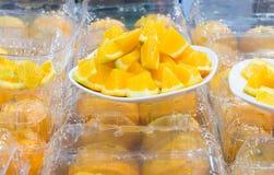 Fetta arancio per gusto immagini stock
