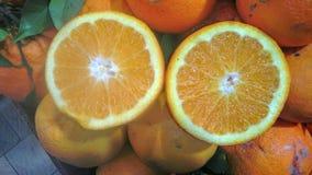 Fetta arancio sul displey Fotografie Stock Libere da Diritti