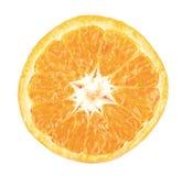 Fetta arancione isolata su bianco immagini stock libere da diritti