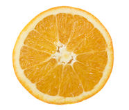 Fetta arancione. sopra una priorità bassa bianca Fotografia Stock Libera da Diritti