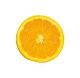 Fetta arancione. sopra una priorità bassa bianca Immagine Stock Libera da Diritti