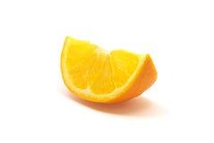 Fetta arancione su un bianco Immagine Stock Libera da Diritti