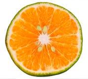 Fetta arancione verde fotografia stock libera da diritti