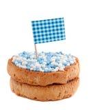 Fetta biscottata con i mouse bianchi blu Fotografia Stock Libera da Diritti