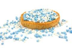 Fetta biscottata con i mouse blu Fotografia Stock Libera da Diritti