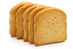 Fetta biscottata del pane isolata Immagine Stock