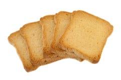 Fetta biscottata dorata Fotografie Stock Libere da Diritti