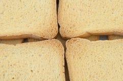 Fetta biscottata dorata Fotografia Stock