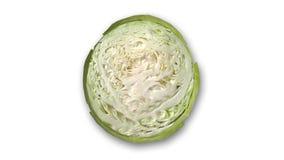 Fetta del cavolo, verdura su fondo bianco Fotografia Stock
