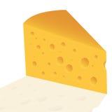 Fetta del formaggio con i fori Fotografia Stock Libera da Diritti