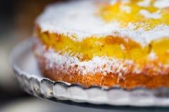 Fetta del grafico a torta della ciliegia Fotografia Stock