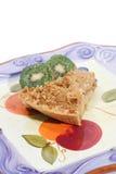 Fetta del grafico a torta di Apple con il kiwi Immagine Stock