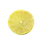 Fetta del limone isolata su priorità bassa bianca Immagine Stock Libera da Diritti