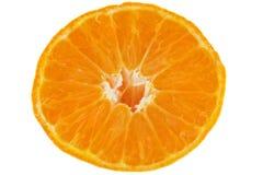 Fetta del mandarino della frutta fresca Immagini Stock